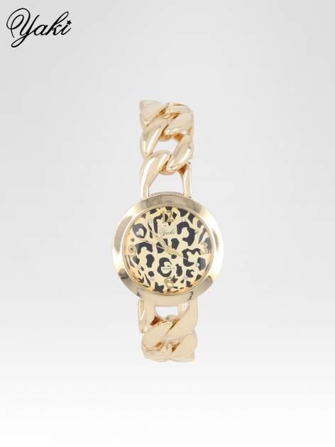 Zegarek damski z motywem leopard print na bransolecie ze złota                                  zdj.                                  1