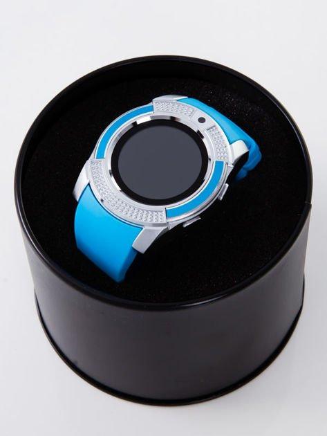 Zegarek smartwatch V8 błękitny Monitor snu, Krokomierz, Telefon                              zdj.                              4