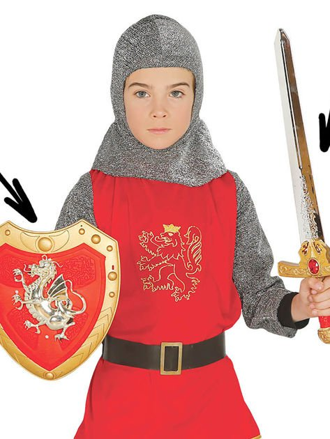 Zestaw miecz i tarcza rycerza gwardii królewskiej dla dzieci                              zdj.                              1