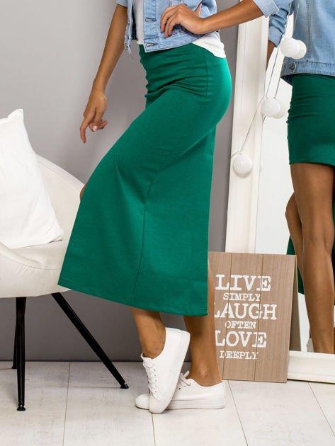 Zielona asymetryczna spódnica                              zdj.                              3