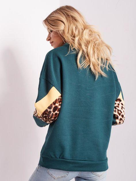 Zielona bluza damska oversize                              zdj.                              3
