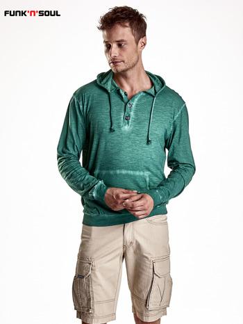 Zielona bluza męska z efektem acid wash Funk n Soul                                  zdj.                                  2