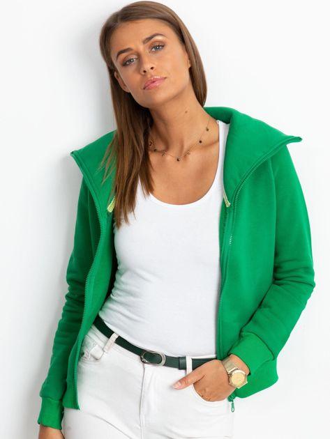 Zielona bluza z miękkim kołnierzem                              zdj.                              6