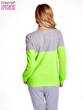 Zielona bluza z napisem I'M SO ADVERSE                                  zdj.                                  4