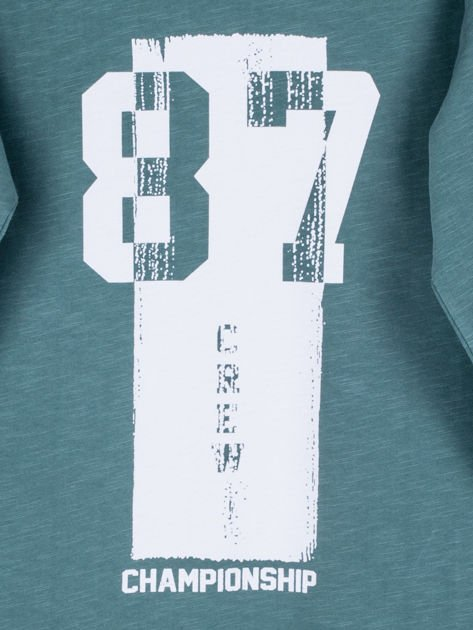 Zielona bluzka dziecięca urban print                              zdj.                              4