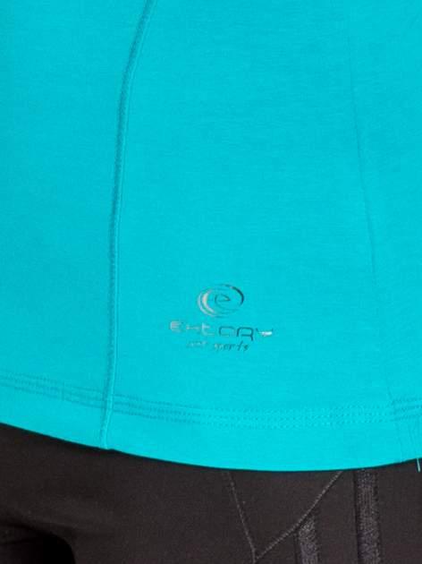 Zielona bluzka sportowa basic PLUS SIZE                                  zdj.                                  5