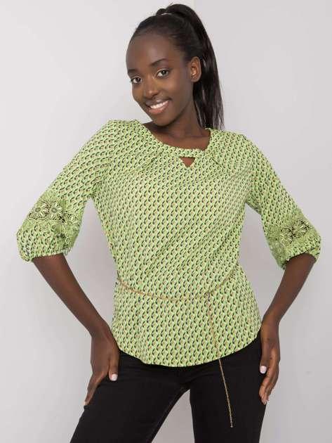 Zielona bluzka we wzory Jazmin