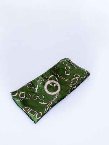 Zielona chusta apaszka z motywem łańcuszka                                  zdj.                                  3