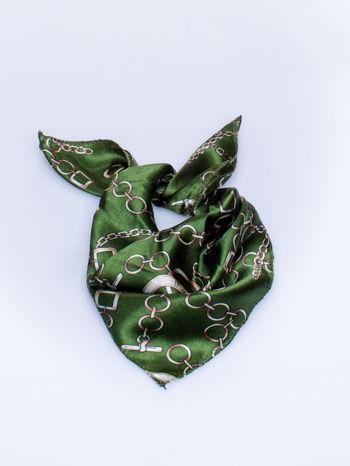 Zielona chusta apaszka z motywem łańcuszka                                  zdj.                                  2