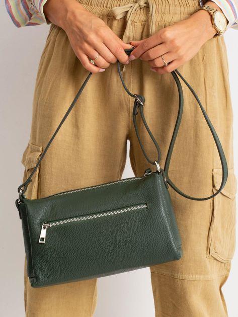 Zielona damska torebka skórzana                              zdj.                              5