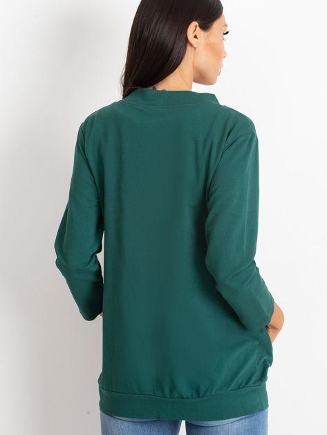 Zielona dresowa bluza z aplikacją                              zdj.                              2