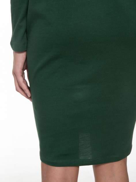 Zielona dresowa sukienka z nietoperzowymi rękawami                                  zdj.                                  6