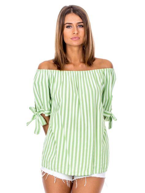 Zielona hiszpanka w paski                              zdj.                              1