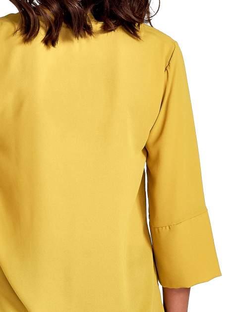 Zielona koszula z dłuższym tyłem i rękawkami 3/4                                  zdj.                                  7
