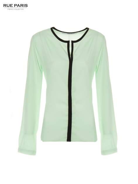 Zielona koszula z kontrastową listwą                                  zdj.                                  5