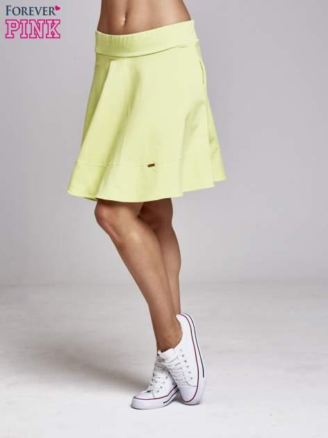 Zielona spódnica dresowa skater                                  zdj.                                  3