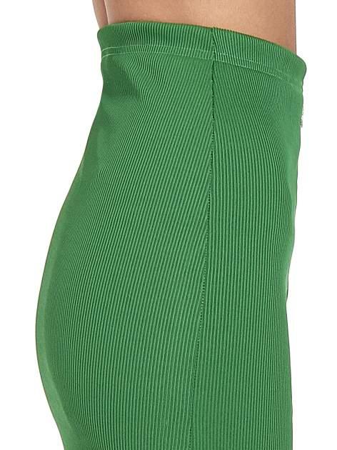 Zielona spódnica midi z suwakiem z przodu                                  zdj.                                  6