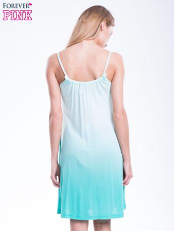 Zielona sukienka na ramiączka z efektem ombre                                  zdj.                                  3