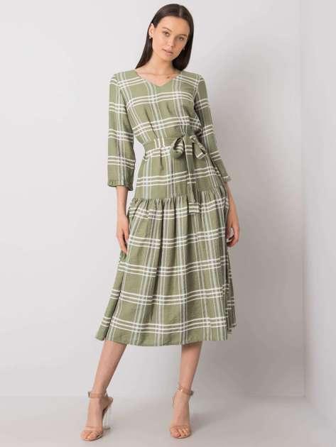 Zielona sukienka w kratkę Giana