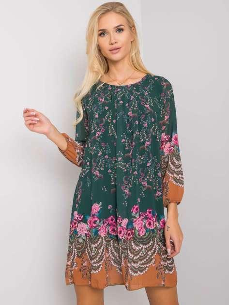 Zielona sukienka we wzory Tristana OCH BELLA