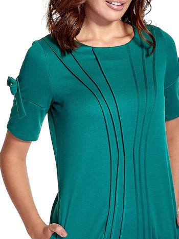Zielona sukienka z kokardkami                                  zdj.                                  5
