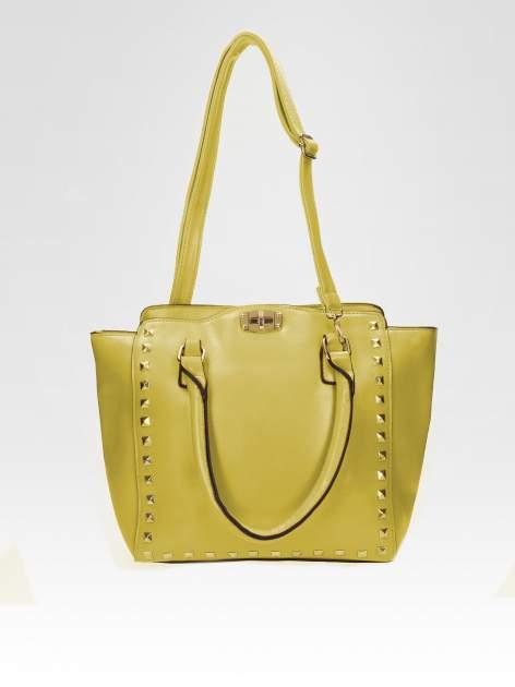 Zielona torebka na ramię z dżetami                                  zdj.                                  4