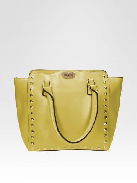 Zielona torebka na ramię z dżetami                                  zdj.                                  1