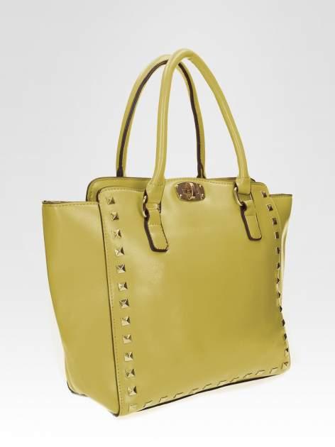 Zielona torebka na ramię z dżetami                                  zdj.                                  6