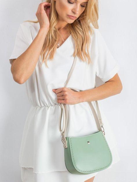 Zielona torebka z odpinanym paskiem