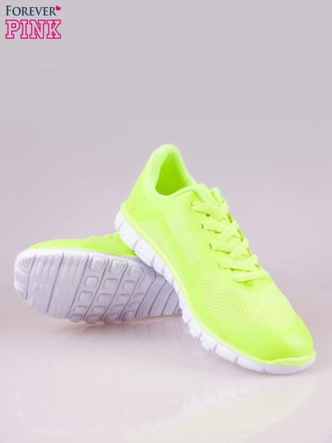 Zielone buty sportowe damskie z podeszwą z rowkami flex                                  zdj.                                  4