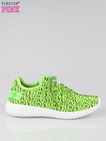 Zielone buty sportowe textile Blossom z uchwytem z tyłu                                  zdj.                                  1
