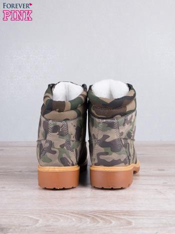Zielone buty trekkingowe damskie traperki ocieplane                                  zdj.                                  4