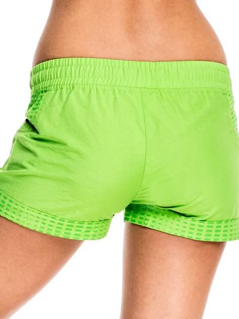 Zielone damskie szorty sportowe wiązane w pasie                                  zdj.                                  5