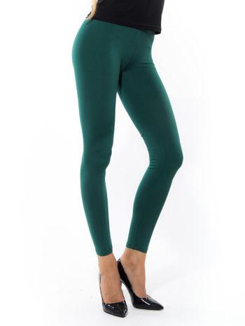 Zielone gładkie legginsy