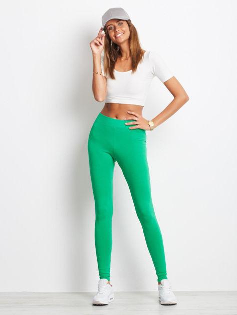 Zielone legginsy Basic                              zdj.                              4