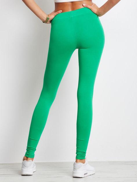 Zielone legginsy Basic                              zdj.                              2