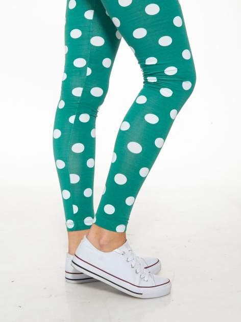 Zielone legginsy w grochy                                  zdj.                                  7