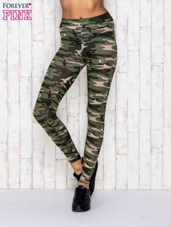 Zielone legginsy z motywem militarnym                                  zdj.                                  1
