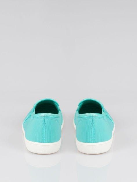 Zielone lekkie buty sliponki                                  zdj.                                  3