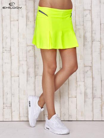 Zielone spodenki spódniczka tenisowa z szarymi wstawkami                                  zdj.                                  1