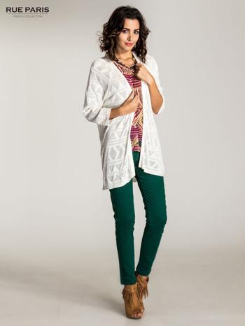 Zielone spodnie materiałowe w stylu chinos                                  zdj.                                  10