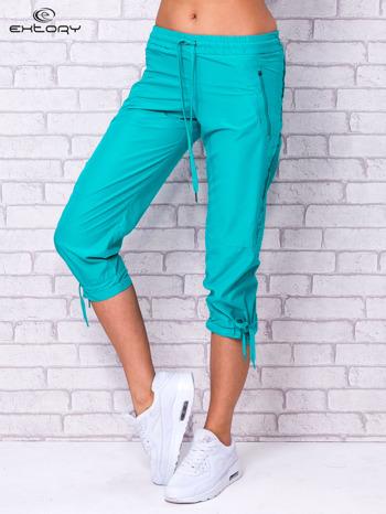 Zielone spodnie sportowe capri z siateczką                                  zdj.                                  1