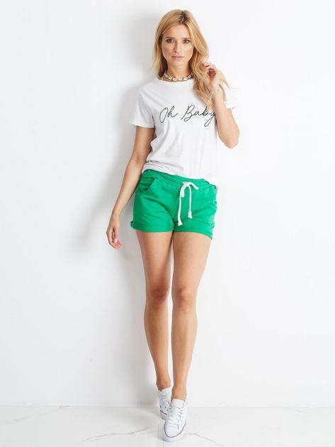 Zielone szorty Rejuvenate                              zdj.                              4