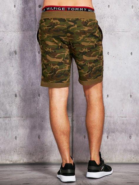 Zielone szorty męskie w militarnym stylu                              zdj.                              3