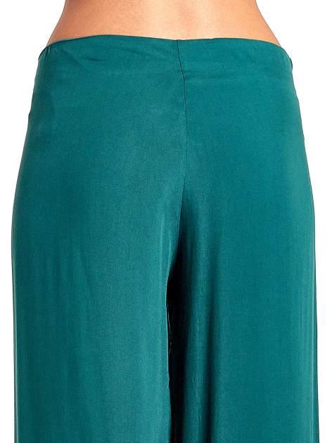 Zielone zwiewne spodnie typu palazzo                                  zdj.                                  7