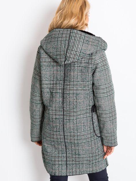 Zielono-czarny płaszcz Risk                              zdj.                              2