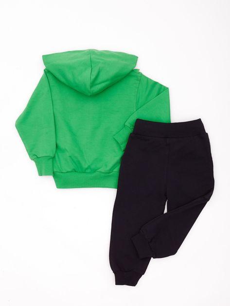 Zielono-szary komplet dla dziewczynki z dżetami                              zdj.                              2