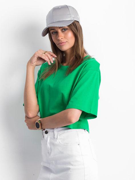 Zielony krótki t-shirt                               zdj.                              3
