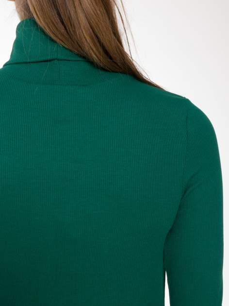 Zielony prążkowany golf damski                                  zdj.                                  7