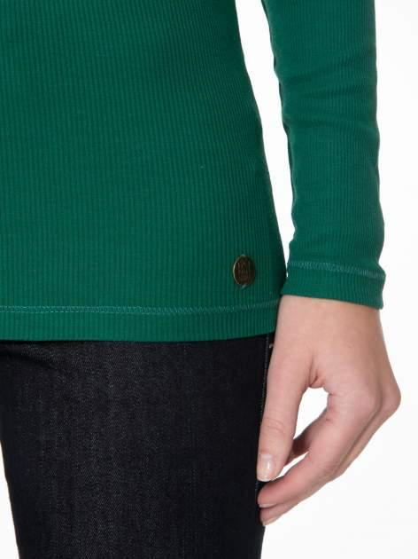 Zielony prążkowany golf damski                                  zdj.                                  6